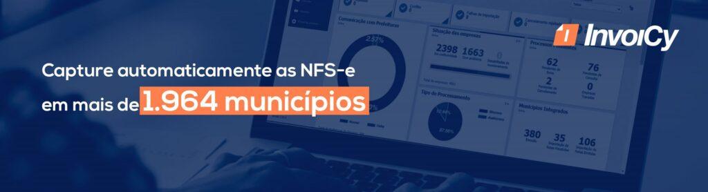 Capture automáticamente as NFS-e em mais de 1.964 municípios